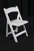 Rental store for WHITE RESIN CHAIR W PAD SEAT in Orange County CA