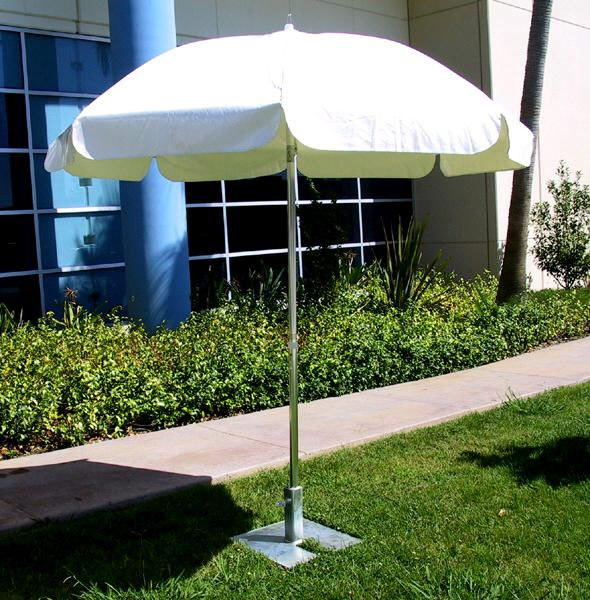 Where to find 7  GARDEN UMBRELLA W BASE in Orange County