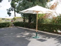 Rental store for 9  MARKET UMBRELLA NATURAL W BASE in Orange County CA