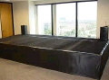 Rental store for BLACK VELON STAGE SKIRT, PER FT in Orange County CA