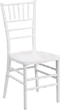 Rental store for WHITE CHIAVARI CHAIR WITH PAD in Orange County CA