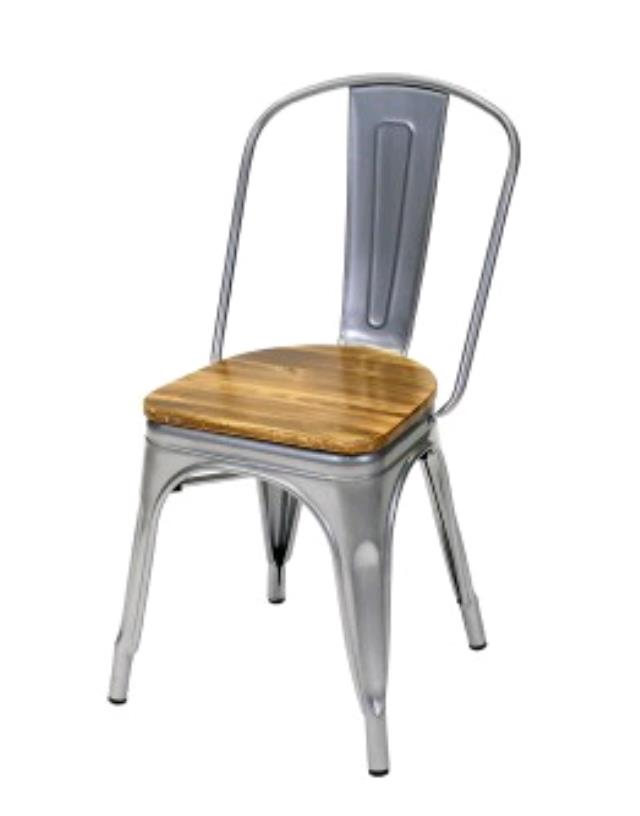 Where to find GUNMETAL GREY CAFE CHAIR W WOOD SEAT in Orange County